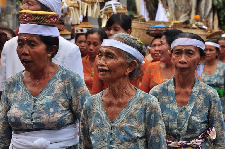 Traditional procession at Galungan Day, Bali│