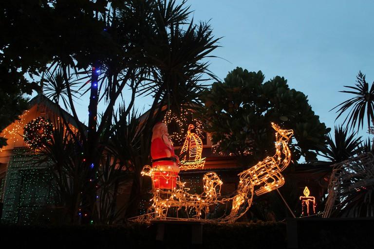 Christmas Lights on Franklin Road, Auckland