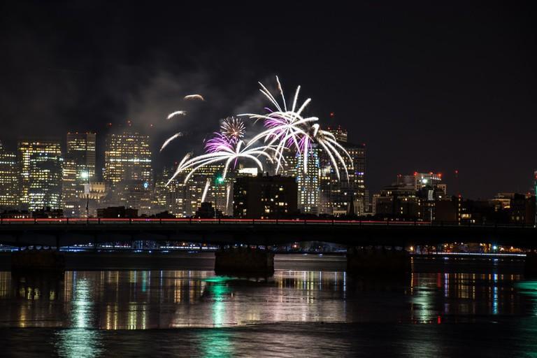 Boston First Night fireworks