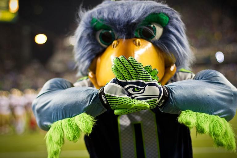 Seattle Seahawks' mascot Blitz