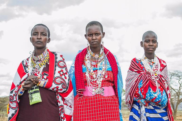 Maasai women and girls