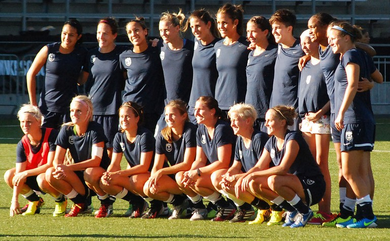 The 2013 line up of Seattle's National Women's Soccer League team, FC Reign