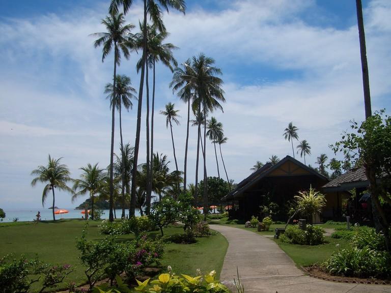 Beachfront resort at Bintan Island