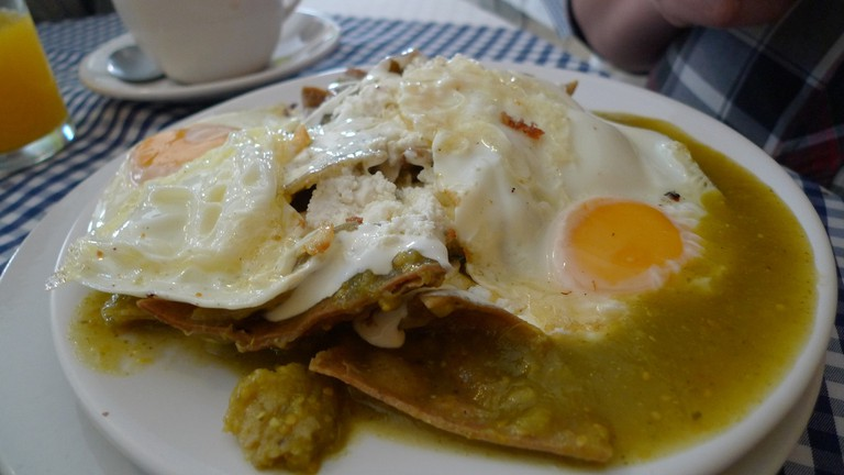 Chilaquiles with egg │