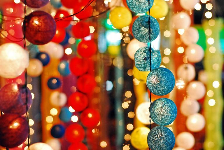 Colourful bubble lights