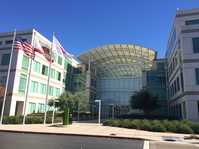Apple HQ at Infinite Loop 1 in Cupertino, California