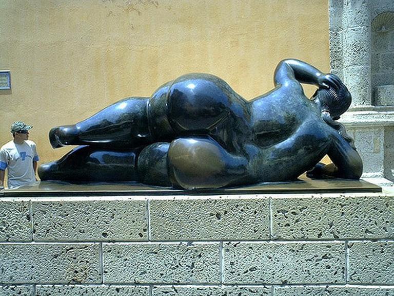 Botero sculpture, Plaza Santa Domingo
