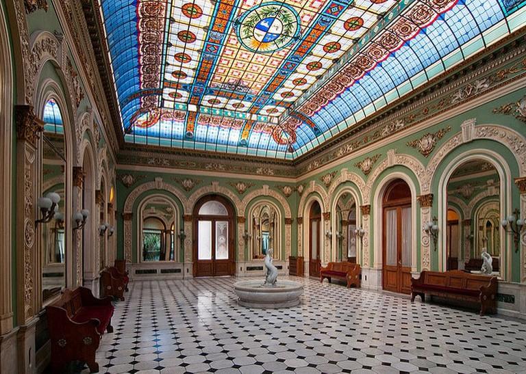 The inside of Palacio Santos, Montevideo, Uruguay