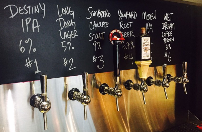 Local and imported beers on tap at The Local