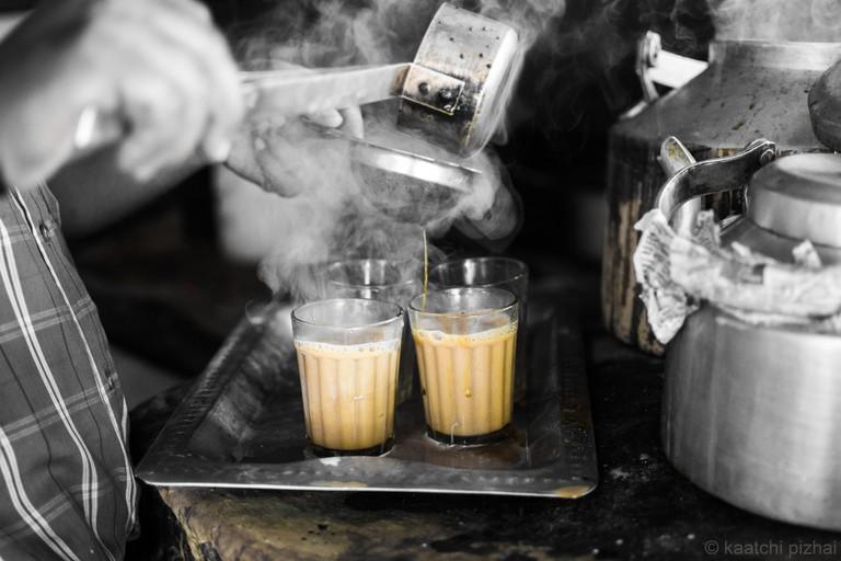 Cutting chai translates to 'half cup of tea'