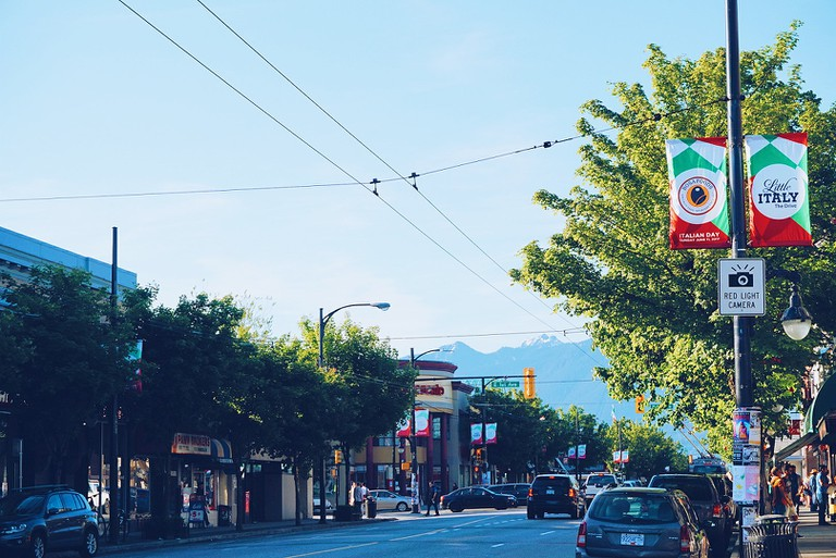 Summer nights on Commercial Drive