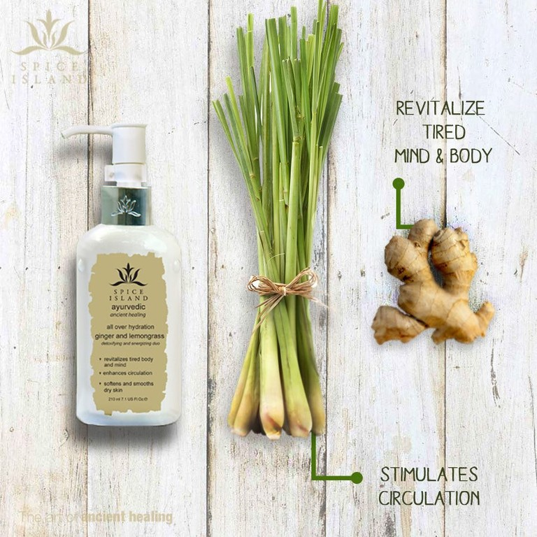 Ginger and lemongrass are a great combination for a wonderful body cream