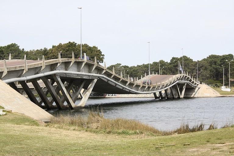 Fun bridge crossing to La Barra, Punta del Este