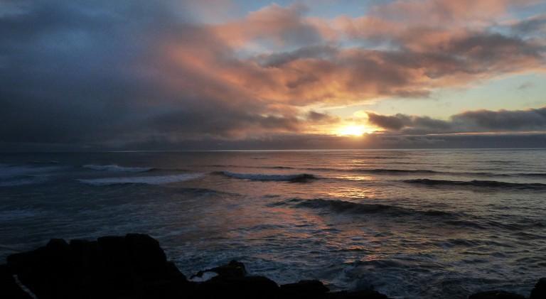 Tasman Sea Sunset, New Zealand