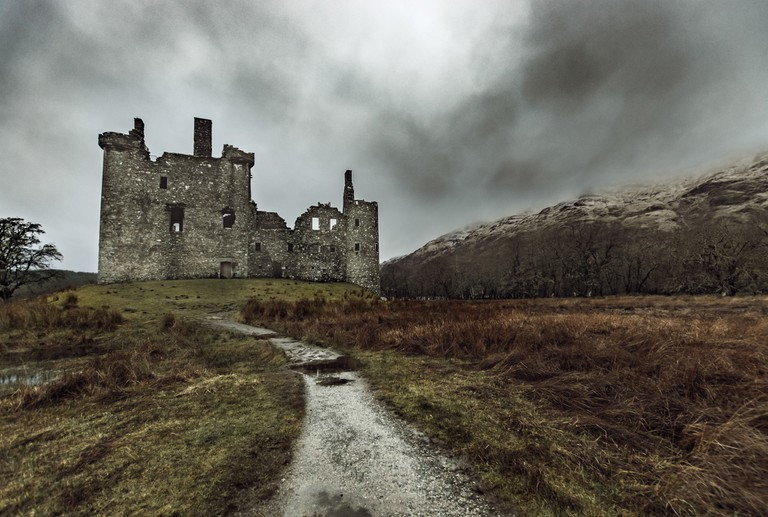 Ruins of Kilchurn Castle – Lived in by Both Campbells and MacGregors