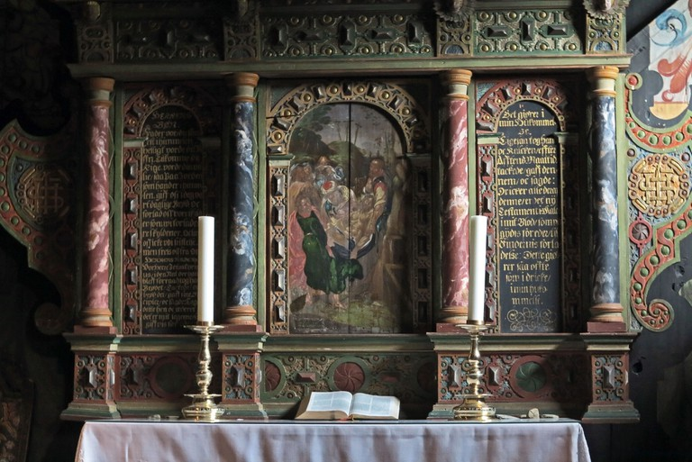 Røldal stave church altar