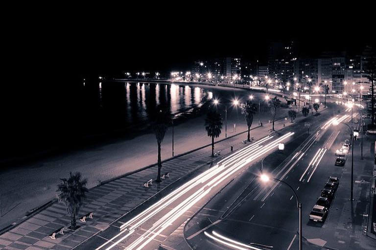 Montevideo City at night, Uruguay