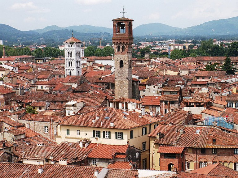Views of Lucca from Torre Guinigi