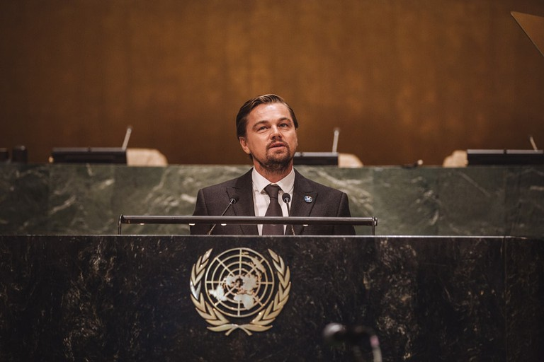Leonardo DiCaprio has become increasingly involved in environmental events, speaking at the United Nations