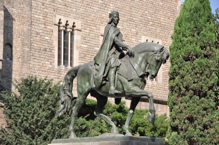 Statue of Ramon Berenguer III, Count of Barcelona © Leonora (Ellie) Enking