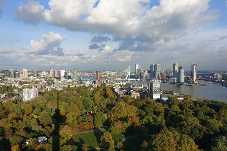 The view from the Euromast in Rotterdam