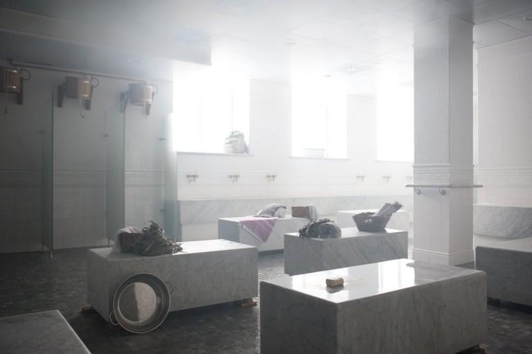 Male section at Varshavsky bathhouse