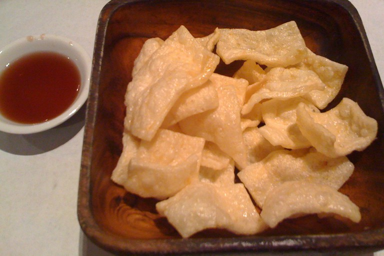 Kropek with a side of vinegar
