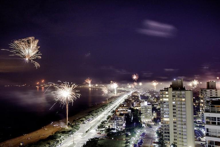 Firework spectacle in Punta del Este