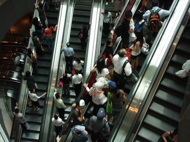 Escalators in Singapore