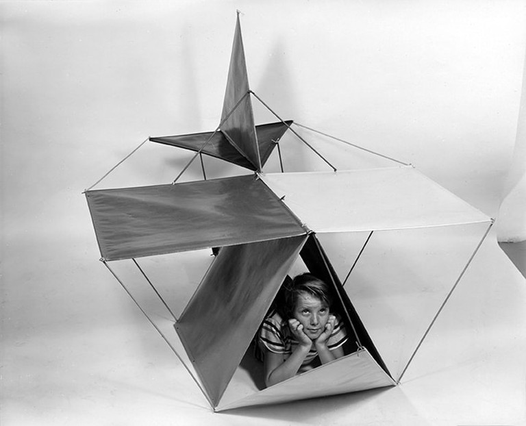 33. An Eames Celebration. Publicity photograph of The Toy in the airplane configuration_∏_2017 Eames Office_LLC