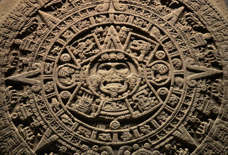 The Sun Stone at Mexico's National Museum of Anthropology