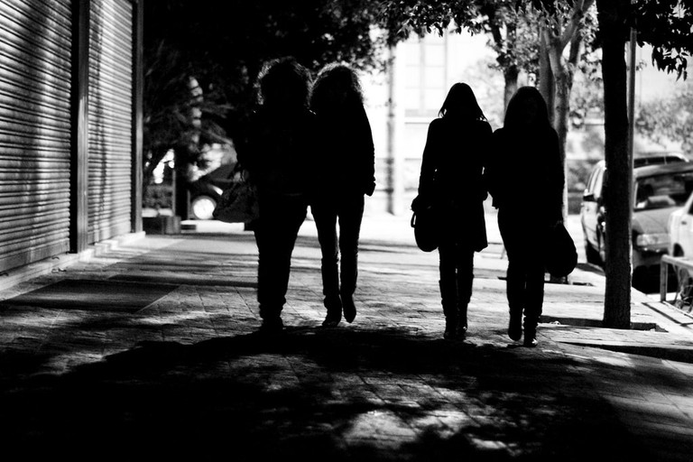 Women be extra vigilant, and don't walk alone at night