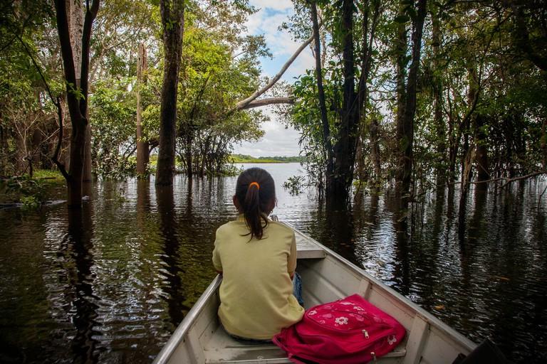 Karen going to School, Amazon Jungle