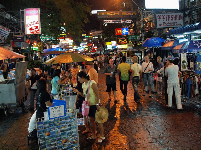Shopping on Khao San Road, Bangkok