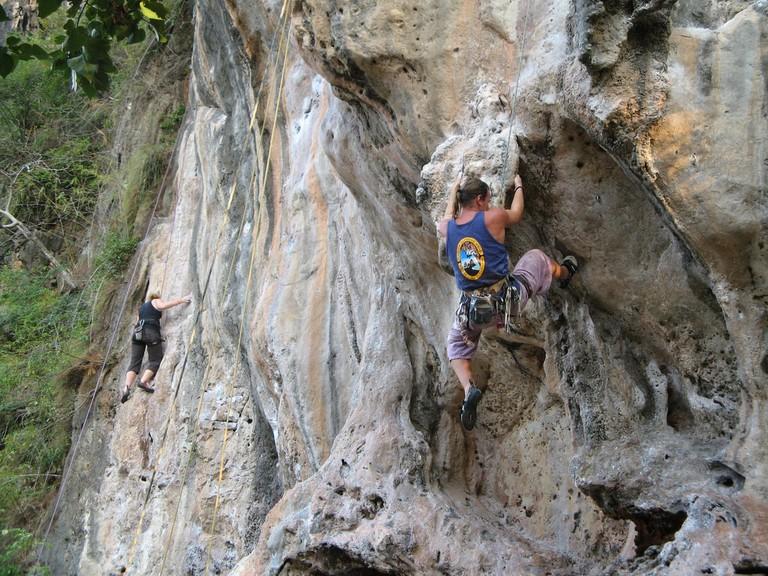 Rock climbing at Railway