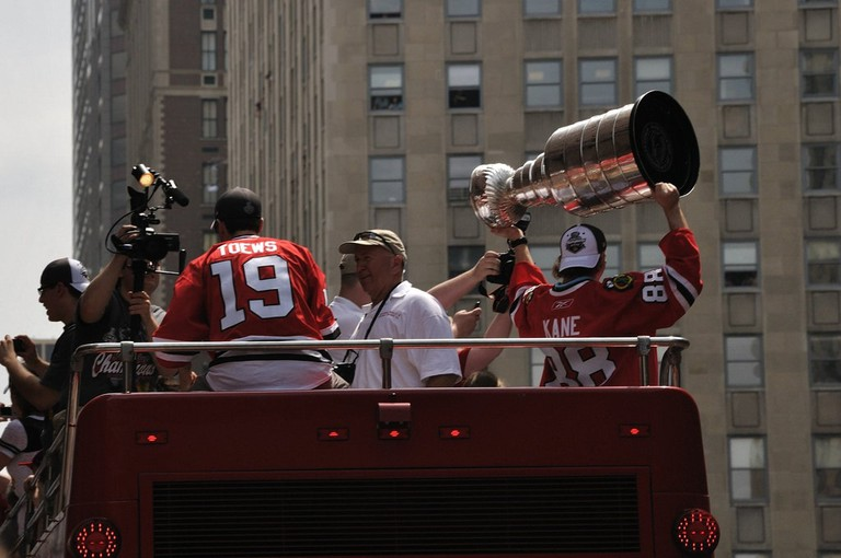 Kane Holds the Stanley Cup