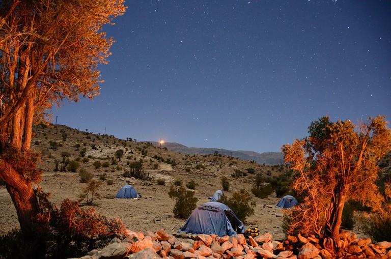 Omani mountain camp