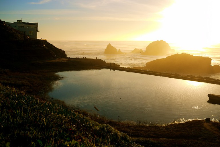 Sunset at the Sutro Baths
