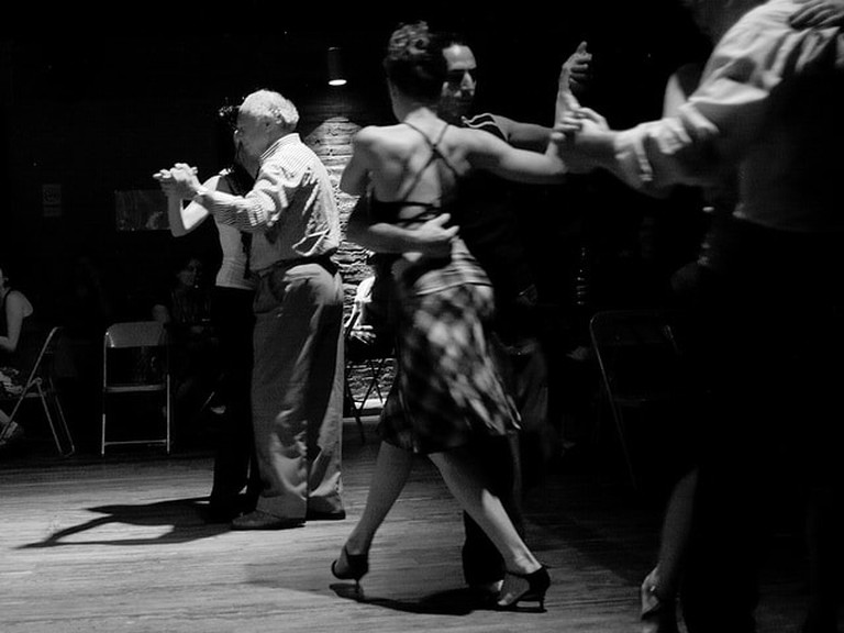 Dancing Milonga