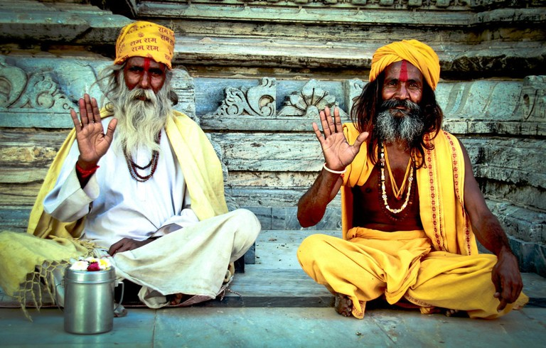 Holy men in India