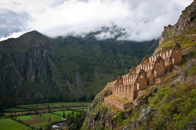 Inca Storehouses over Ollantaytambo