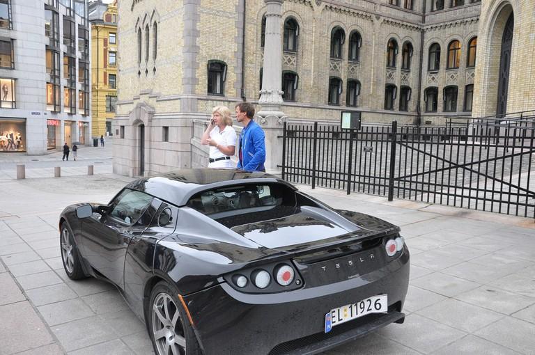 Tesla car in Oslo