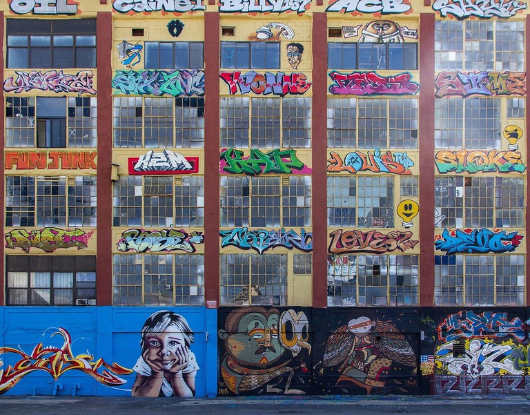 A graffiticovered wall at 5 Pointz | Photo by P.Lindgren/WikiCommons