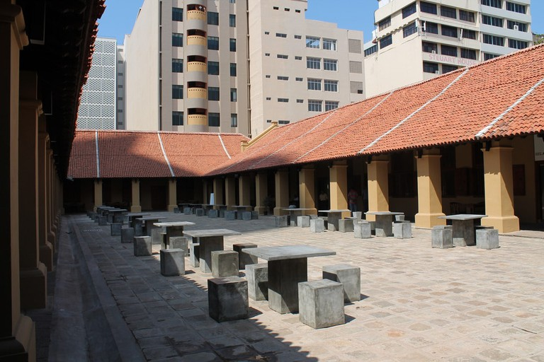 The courtyard at the Old Dutch Hospital is a great place to unwind (when the sun goes down)