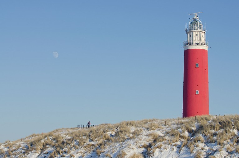 Clear skies over Eierland Lighthouse on the island of Texel