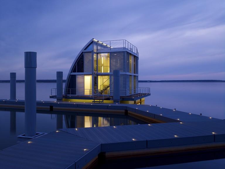 Das schwimmende Haus in Geierswalde