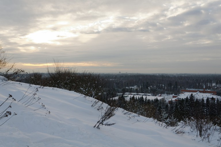 View from Malminkartano Hill in winter