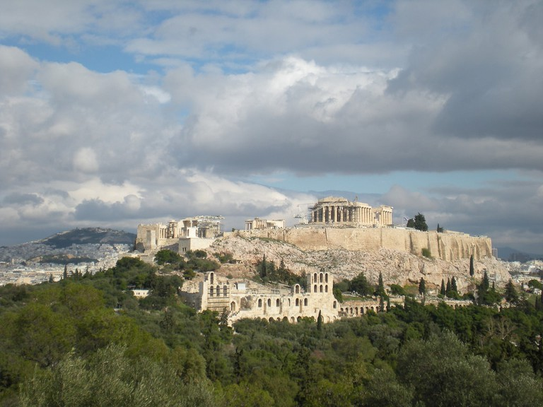 The view of the Acropolis from Filopappou Hill