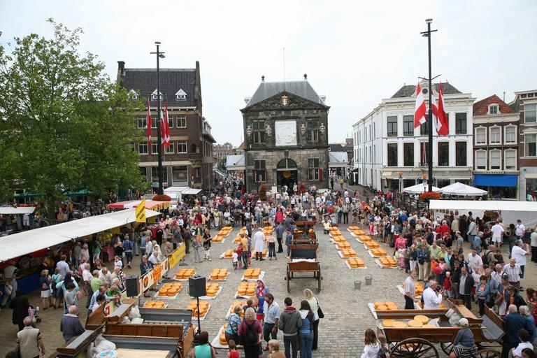 Gouda's cheese market