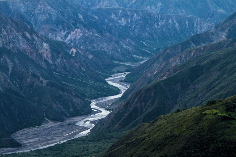 The spectacular Chicamocha Canyon